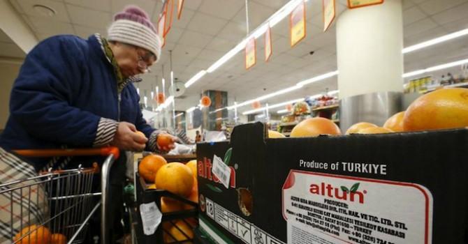 Nga công bố danh sách các mặt hàng Thổ Nhĩ Kỳ bị cấm vận