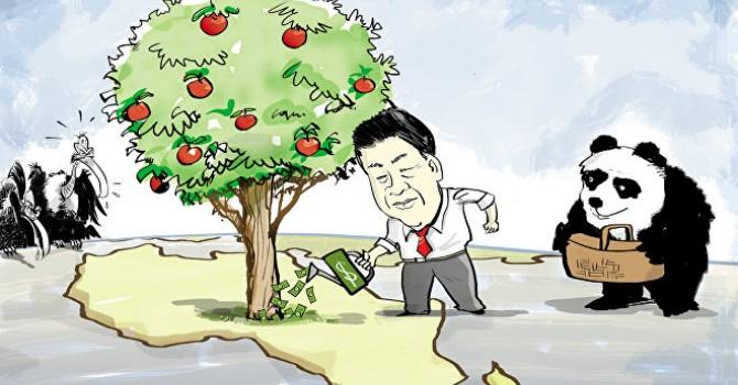"""Biếm họa tuần qua: Trung Quốc rải tiền ở châu Phi, Nga """"nổi đóa"""" với IMF"""