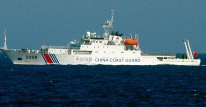 Tàu cảnh sát biển Trung Quốc đi vào lãnh hải Nhật Bản