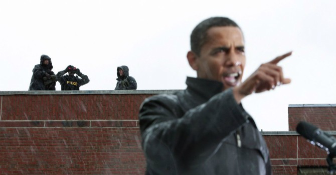 """[Ảnh] Chiêm ngưỡng giàn """"lá chắn sống"""" của Tổng thống Mỹ Barack Obama"""