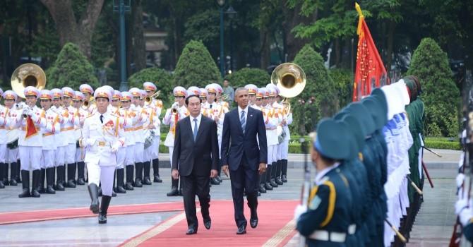 Chính thức tiếp đón Tổng thống Mỹ Obama tại Phủ Chủ tịch