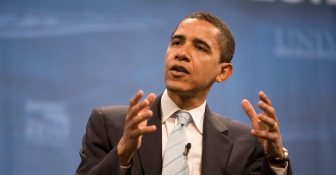 Tổng thống Mỹ Barack Obama phát biểu tại Trung tâm hội nghị quốc gia