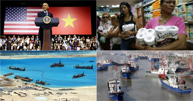 Thế giới 24h: G7 bàn về Biển Đông, Venezuela bán vàng dự trữ