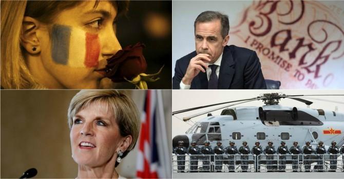 Thế giới 24h: Trung Quốc đe nẹt Úc, khủng bố tấn công Pháp