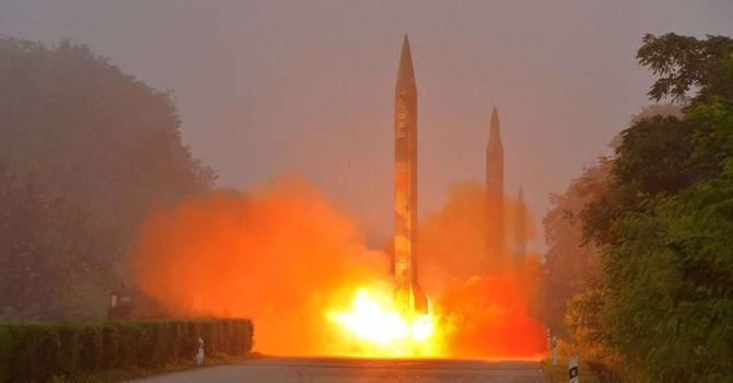 Triều Tiên bắn 3 tên lửa sau khi Trung - Hàn hội đàm bên lề G20