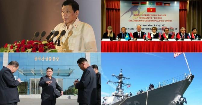 Thế giới 24h: Tàu chiến Mỹ cập cảng Cam Ranh, ông Duterte yêu cầu thả ngư dân Việt Nam