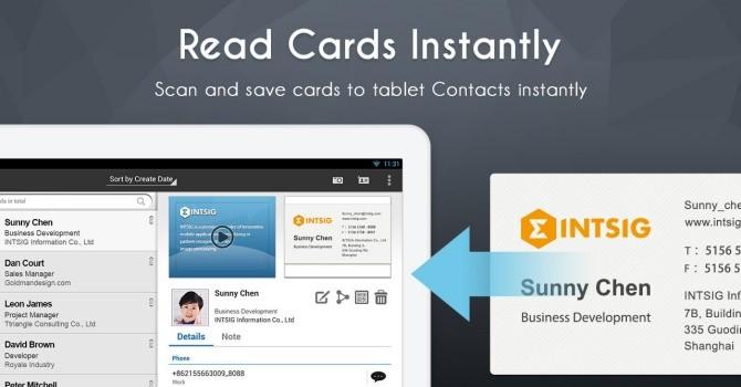 Ứng dụng cuối tuần: Quản lý danh thiếp với CamCard