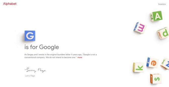 Tại sao trang web công ty mẹ của Google lại là abc.xyz?