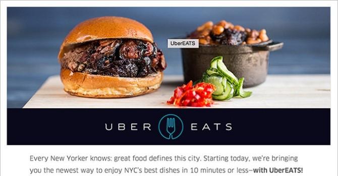 Uber mới có thêm dịch vụ vận chuyển món ăn tại Mỹ