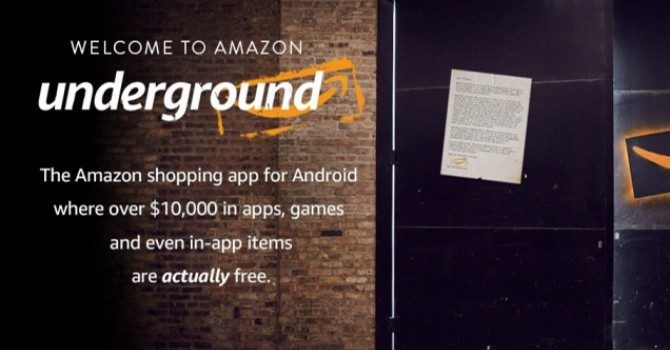 [Ứng dụng cuối tuần] Underground, chợ ứng dụng Android miễn phí của Amazon
