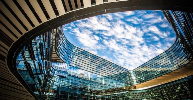 """[Ảnh] Ngắm trụ sở mới theo phong cách """"xanh"""" của Samsung Semiconductor"""