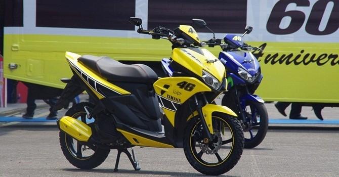 [Ảnh] Xe ga thể thao Aerox 125 của Yamaha có gì?