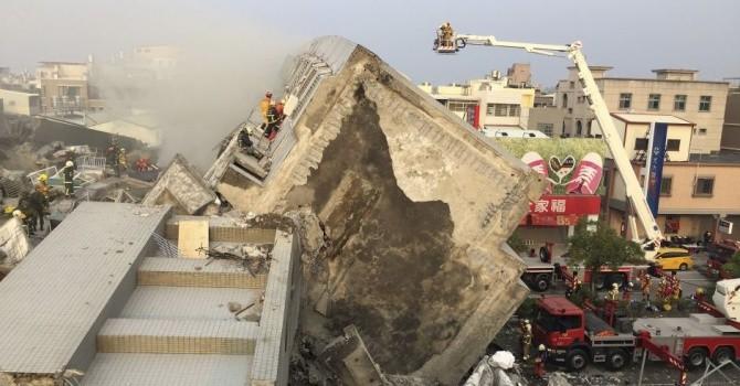 Số người chết sau động đất tại Đài Loan tăng lên  18 người