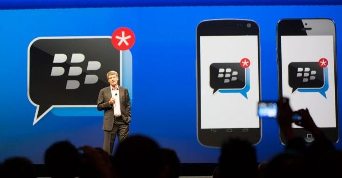 Miễn phí chức năng, ứng dụng tin nhắn có giúp Blackberry thu hút thêm khách hàng?
