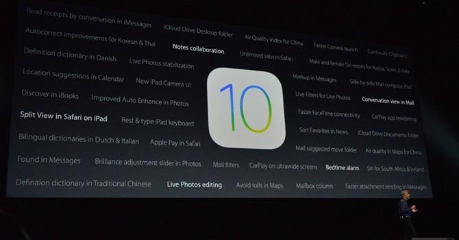 Apple giới thiệu iOS 10 và hàng loạt nâng cấp cho thiết bị cũ