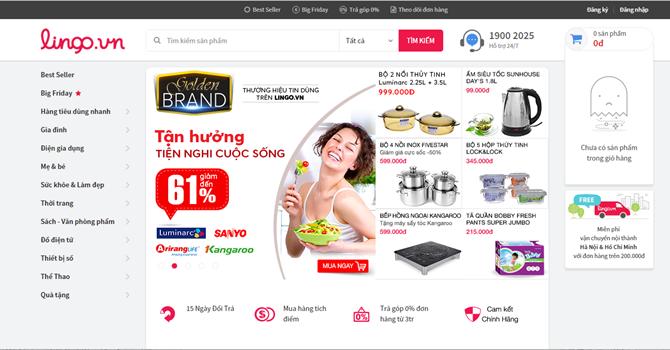 Đến lượt website thương mại điện tử lingo.vn ngừng hoạt động