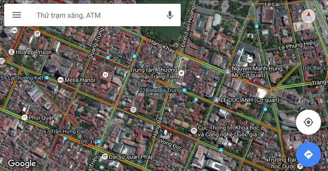 Người dùng Việt Nam đã có thể xem tình trạng tắc đường ngay trên Google Maps