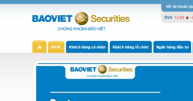 BVSC: Tỷ lệ an toàn vốn đạt gần 750%