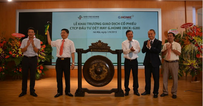 G20, cổ phiếu dệt may mới của HNX