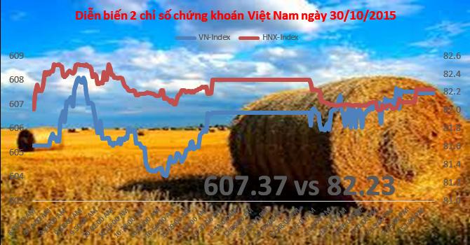 Chứng khoán chiều 30/10: Cổ phiếu nông nghiệp HNG, NAF gây bão