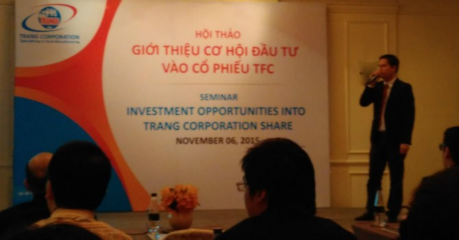 Trang Corp tăng 3,14% trong ngày chào sàn HNX