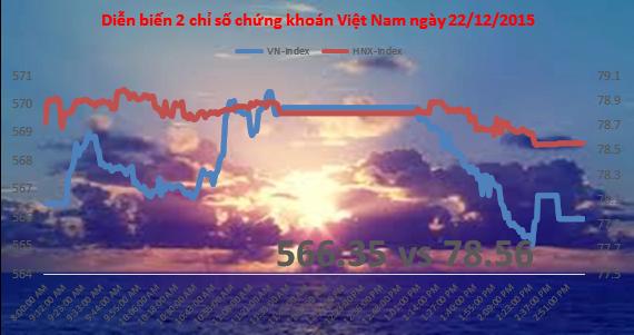 Chứng khoán chiều 22/12: Thiếu sự đồng thuận của dòng tiền, VN-Index mất điểm