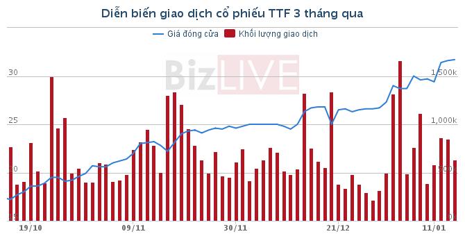 Chứng khoán sáng 15/1: TTF tăng gần 90% trong vòng 3 tháng