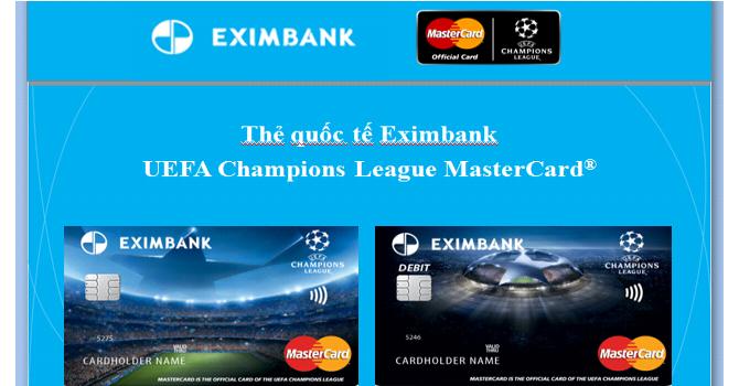 Xem bóng đá thượng đỉnh với thẻ tín dụng quốc tế Eximbank