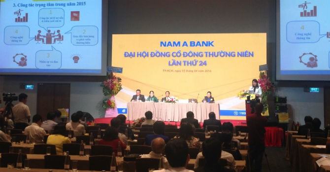 ĐHĐCĐ: NamABank dự kiến lên sàn chứng khoán năm 2016