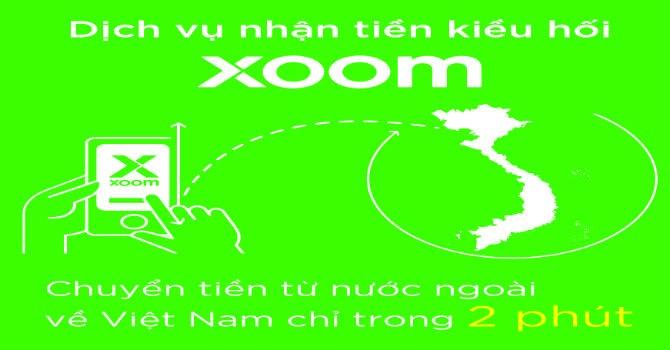 Sacombank là đối tác độc quyền của XOOM tại Việt Nam