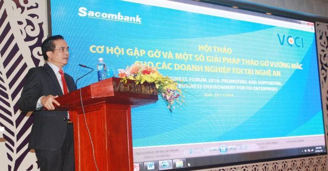 Sacombank hỗ trợ doanh nghiệp FDI Nghệ An