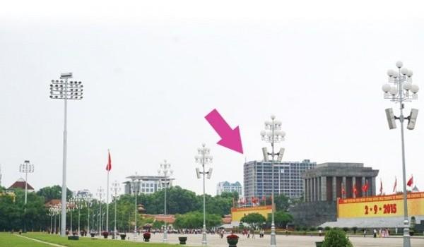 """Báo cáo Thủ tướng vụ xây nhà cao """"bất thường"""" gần quảng trường Ba Đình"""