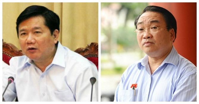 Sắp bãi nhiệm chức danh Phó thủ tướng, Bộ trưởng của ông Hoàng Trung Hải, ông Đinh La Thăng