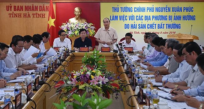 Thủ tướng yêu cầu báo cáo việc cấp phép, giám sát xả thải Formosa