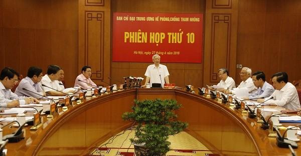 Lập 7 đoàn kiểm tra 14 tỉnh về các vấn đề liên quan đến tham nhũng