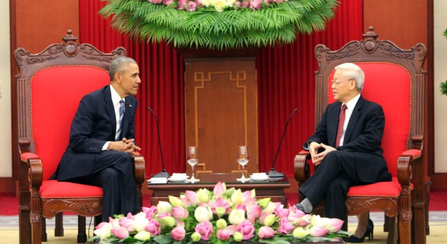 Tổng thống Mỹ Obama gặp Tổng bí thư Nguyễn Phú Trọng