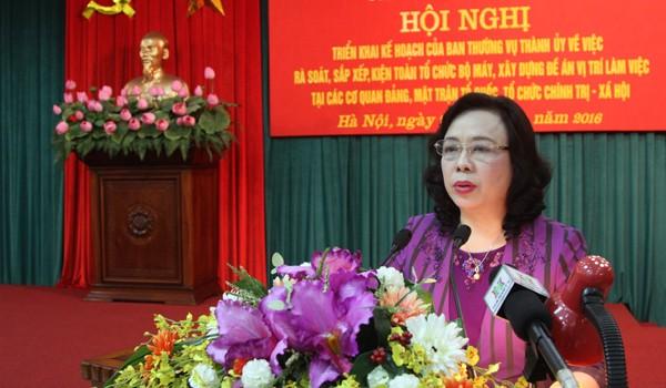 Danh sách cơ quan, đơn vị ở Hà Nội buộc phải tinh giản biên chế sắp tới