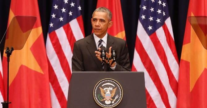 Tổng thống Obama: Các nước lớn không được bắt nạt các nước nhỏ hơn!