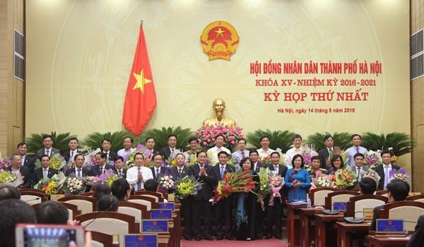 Hà Nội công bố danh sách lãnh đạo chủ chốt nhiệm kỳ mới