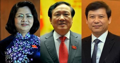 Quốc hội công bố kết quả bầu 3 nhân sự lãnh đạo cấp cao