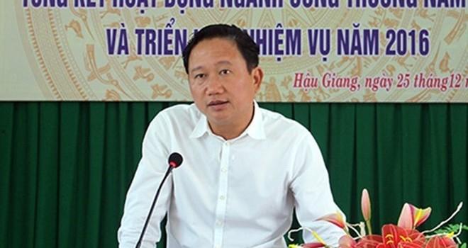 Quyết định khai trừ ông Trịnh Xuân Thanh ra khỏi Đảng