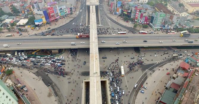 Sắp có đường bộ trên cao từ cầu Vĩnh Tuy đến Ngã Tư Sở