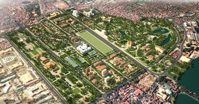 Di dời nhiều hộ dân, khu tập thể để xây trung tâm chính trị Ba Đình