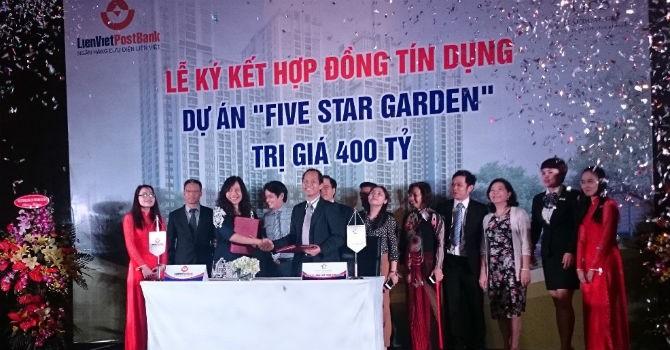 LienVietPostBank rót 400 tỷ đồng cho dự án Five Star Garden
