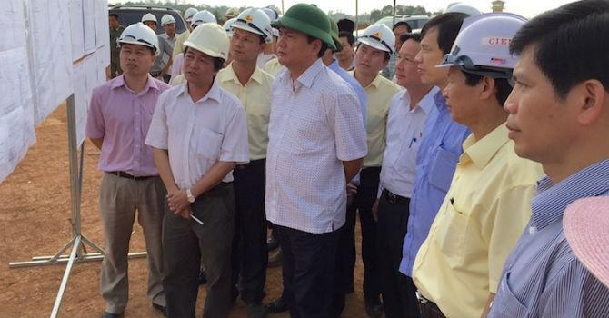 """Bộ trưởng Thăng """"thúc"""" tiến độ Dự án Cảng hàng không Thọ Xuân"""