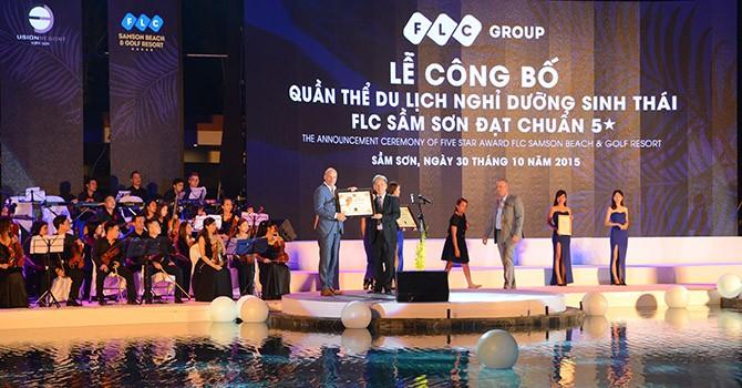 Quần thể du lịch nghỉ dưỡng sinh thái FLC Sầm Sơn đón danh hiệu 5 sao