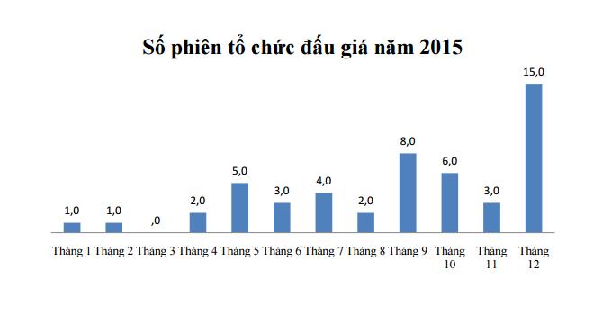 HoSE: Thu về gần 4,5 nghìn tỷ từ đấu giá năm 2015