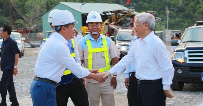 Tổng bí thư Nguyễn Phú Trọng: Cần đảm bảo tiến độ thông hầm Đèo Cả vào tháng 7/2016