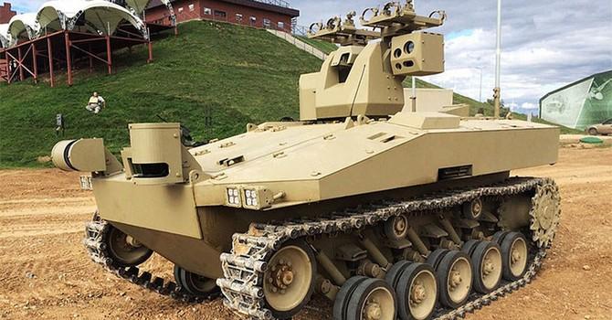 Doanh nghiệp Nga chế tạo robot bánh xích mới cho quân đội