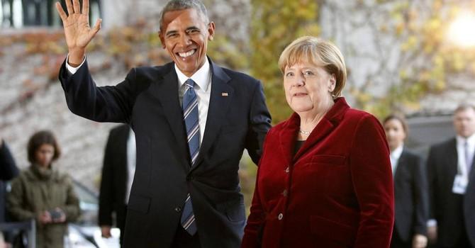 """Ông Obama chào từ biệt thủ tướng Đức Merkel, """"đồng minh thân cận nhất"""""""